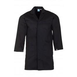 Black Lab Coat with press stud cuffs
