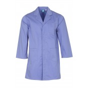 Purple Lab Coat with press stud cuffs