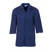 Navy Lab Coat with press stud cuffs