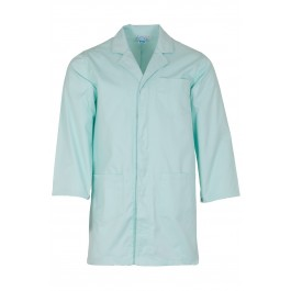 Seafoam Green Lab Coat with press stud cuffs