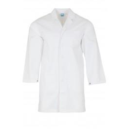 White Lab coat with press stud cuffs