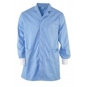 Sky Blue Lab Coat with Ribbed Cuff for extra security
