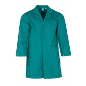 Jade Green Lab Coat with press stud cuffs